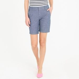 J. CREW Blue Frankie Shorts Sz 12 Chambray Wash